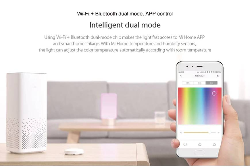 Xiaomi-Mijia-Smart-Light-Bed-Bedside-Lamp-Bluetooth-WiFi-Touch-Control-LED-light